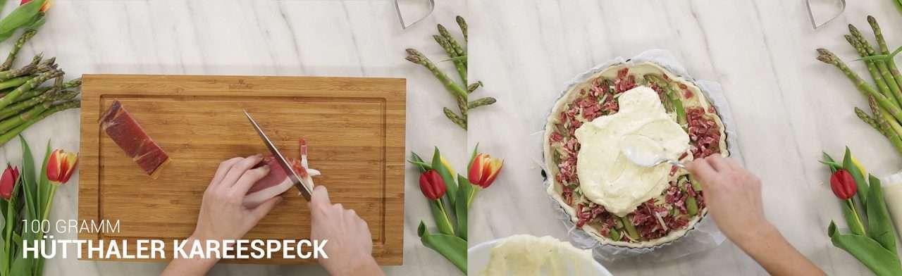 Cooking Catrin kocht für Hütthaler eine Spargel Tarte
