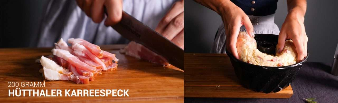 Hütthaler - Cooking Catrin kocht einen pikanten Gugelhupf mit Speck