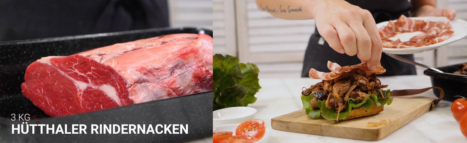 Cooking Catrin grillt einen Pulled Beef Burger
