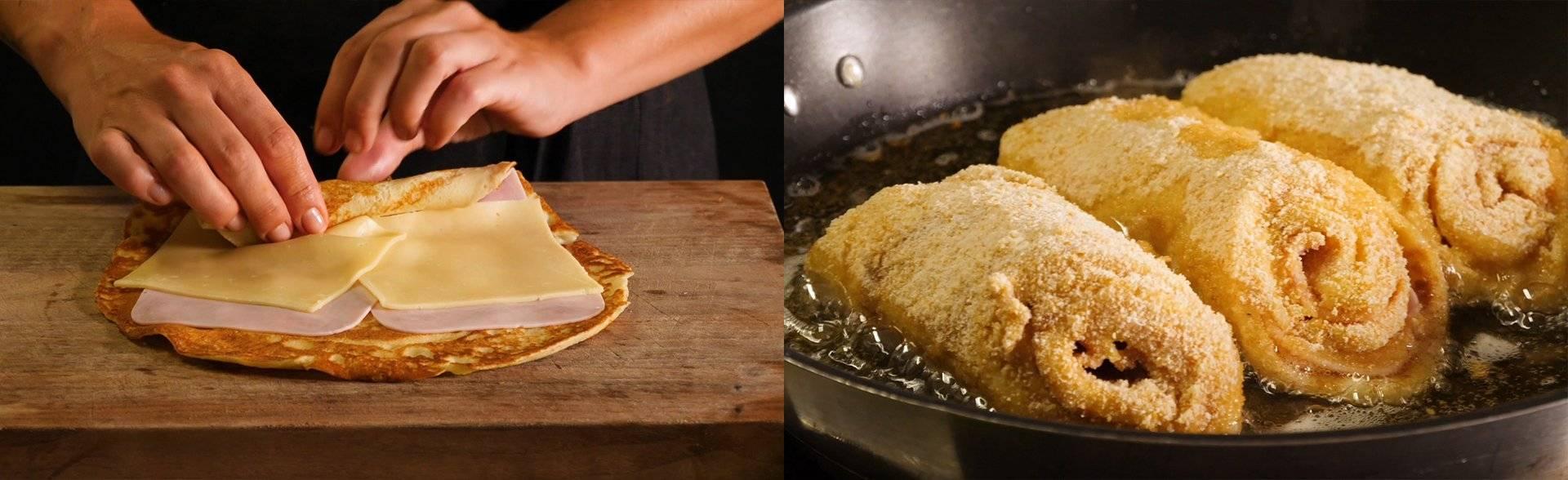 Cooking Catrin kocht für Hütthaler ein Palatschinken Cordon Bleu