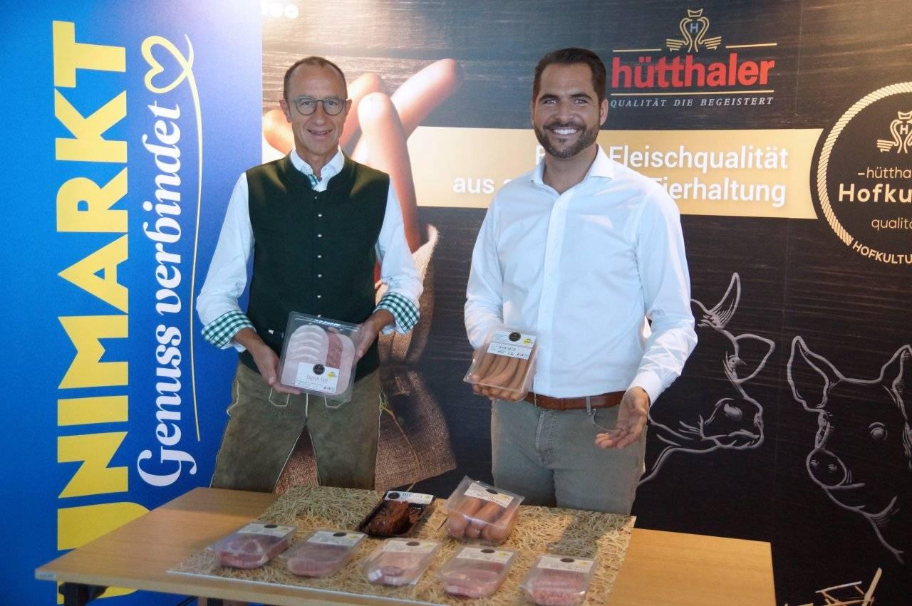 Florian Hütthaler und Andreas Haider (Unimarkt) Hofkultur Pordukte