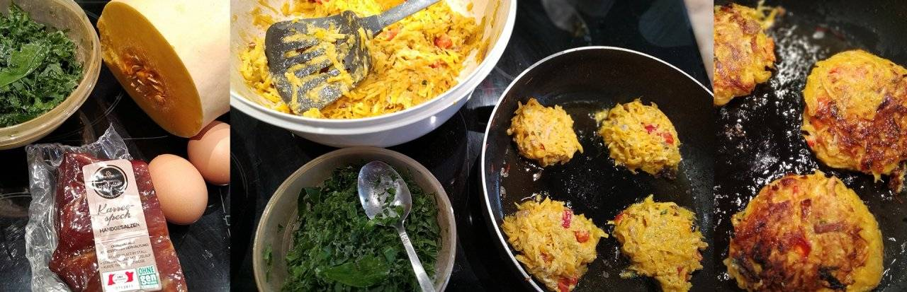 Hofkultur Landwirt Rezepte - Verena Niß kocht Kürbispuffer mit Speck