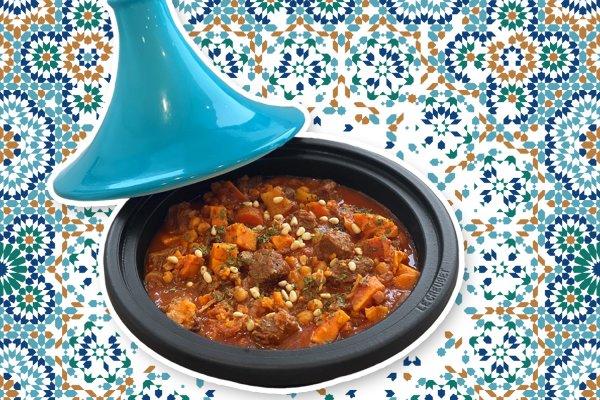 Marokkanische Tajine gekocht mit Rindfleisch von Hütthaler
