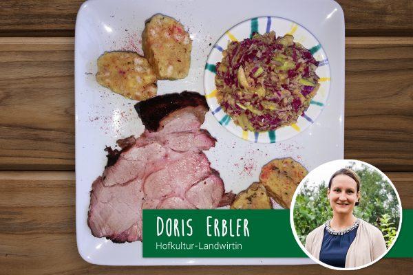 Schopfbraten vom Grill von Hofkultur-Partnerlandwirtin Doris Erbler